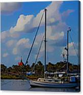 Clouds On The Water Canvas Print