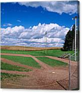 Clouds Over A Baseball Field, Field Canvas Print