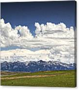 Clouds Over A Mountain Range In Montana Canvas Print