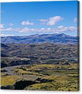Clouds Over A Mountain Range, Torres Canvas Print