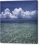 Clouds Over Bora Bora Canvas Print