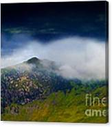 Clouds Over Bull Crag And Maiden Moor Canvas Print