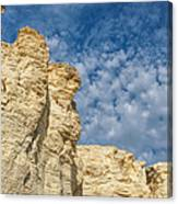 Clouds Over Chalk Pyramids Canvas Print