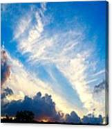 Clouds Over Comfort Canvas Print
