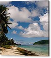 Clouds Over Island Canvas Print