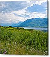 Clouds Over Jackson Lake In Grand Teton National Park-wyoming Canvas Print