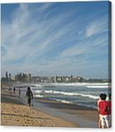 Clouds Over Manly Beach Canvas Print
