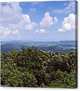 Clouds Over Mountains, Flores Island Canvas Print