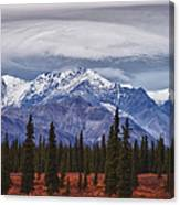 Clouds Over Mountains Canvas Print