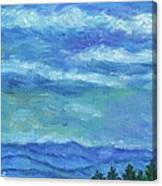 Clouds Over The Blue Ridge Canvas Print