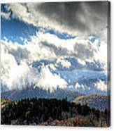 Clouds Over The Blue Ridge Mountains Canvas Print