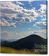 Clouds Over The Mountain Canvas Print