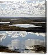 Clouds Reflected In Aleutian Lakes Canvas Print