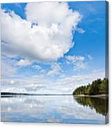 Clouds Reflected In Puget Sound Canvas Print
