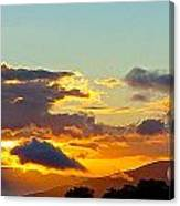 Clouds With Colors Canvas Print