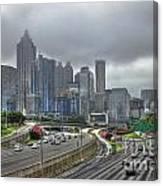 Cloudy Atlanta Capital Of The South Canvas Print
