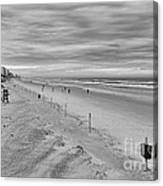Cloudy Beach Morning Canvas Print