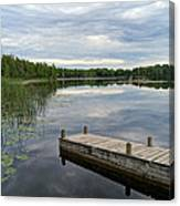 Cloudy Colored Water Canvas Print