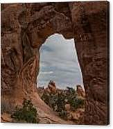 Cloudy Day At Pine Tree Arch Canvas Print
