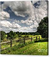 Cloudy Day In The Country Canvas Print