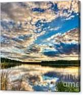 Cloudy Evening Canvas Print