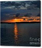 Cloudy Harbor Sunset  Canvas Print