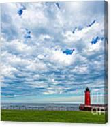 Cloudy Milwaukee Harbor Canvas Print