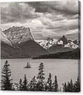 Cloudy Mountain Top Canvas Print