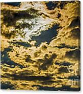 Cloudy Sky Over Calvary Cemetery Canvas Print