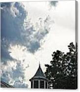 Cloudy Steeple Canvas Print