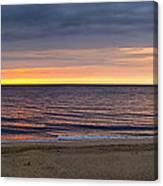 Cloudy Sunrise On Nauset Beach Canvas Print