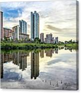 Clover Reflections Canvas Print