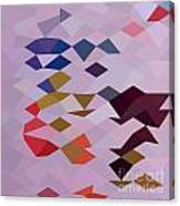 Clown Abstract Low Polygon Background Canvas Print