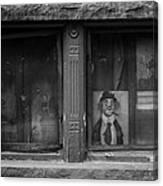 Clown In The Window Canvas Print