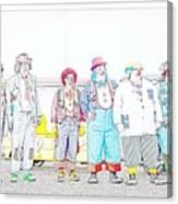 Clown Lineup Canvas Print