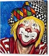 Watercolor Clown #16 Ron Maslanka Canvas Print