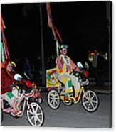 Clowns On Bikes Canvas Print