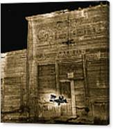 Club Saloon Ghost Town Walcott Wyoming 1971-2010 Canvas Print