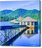 Clubhouse On Lake Tahoma Canvas Print