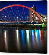 Clyde Arc Glasgow At Night Canvas Print