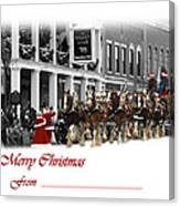 Clydesdale  Team Christmas Card Canvas Print