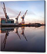 Clydeside Cranes Long Exposure Canvas Print