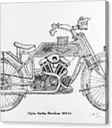 Clyno-harley-davidson Canvas Print