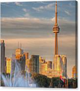 Cn Tower Toronto Canvas Print