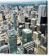 Cn Tower View Canvas Print