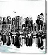 Vancouver Canada Coal Harbour Centre Panel Canvas Print