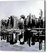 Vancouver  Canada Coal Harbour Triptych Left Panel Canvas Print