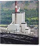 Coal Mine Electrical Energy Power Plant In Nature Canvas Print
