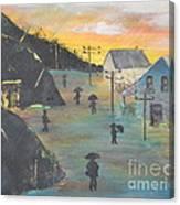 Coal Miners Village Canvas Print
