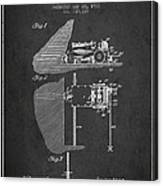 Coal Mining Machine Patent From 1903- Charcoal Canvas Print